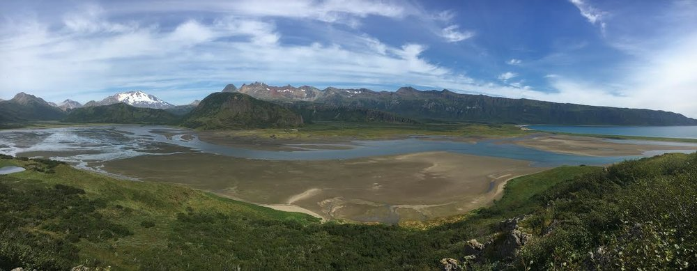 A panoramic view of our homewaters on the remote Pacific coast of the Alaska Peninsula