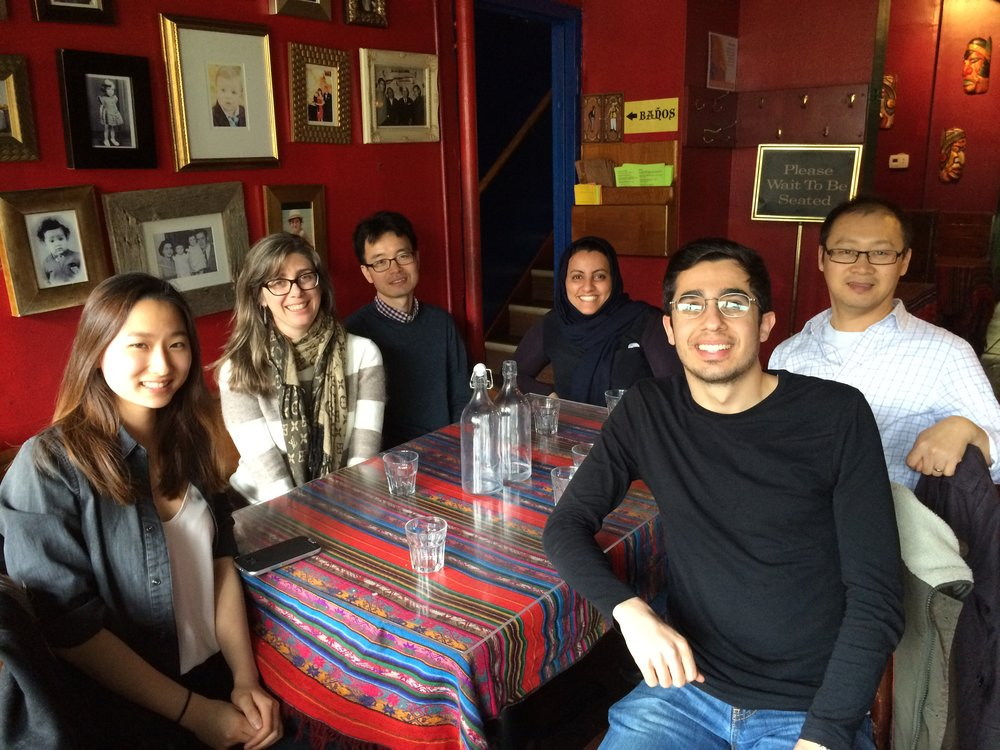 Lab Lunch at margaritas to say goodbye to julia (left).