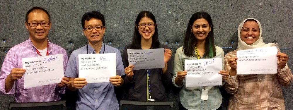 Xuetao, Ben, Margaret, Yassi & wafa #supportthereport