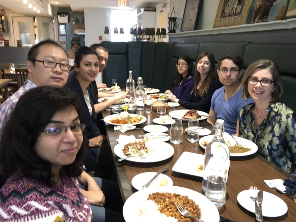 Rupal, xuetao, yassi, khalil, (Bani hiding behind khalil), margaret, olya, kenny and sara (L to r)