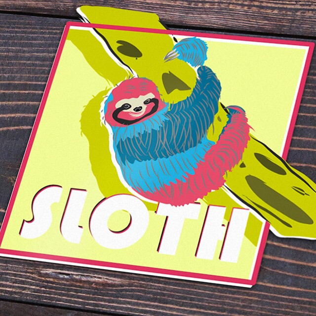 Little sloth illustration