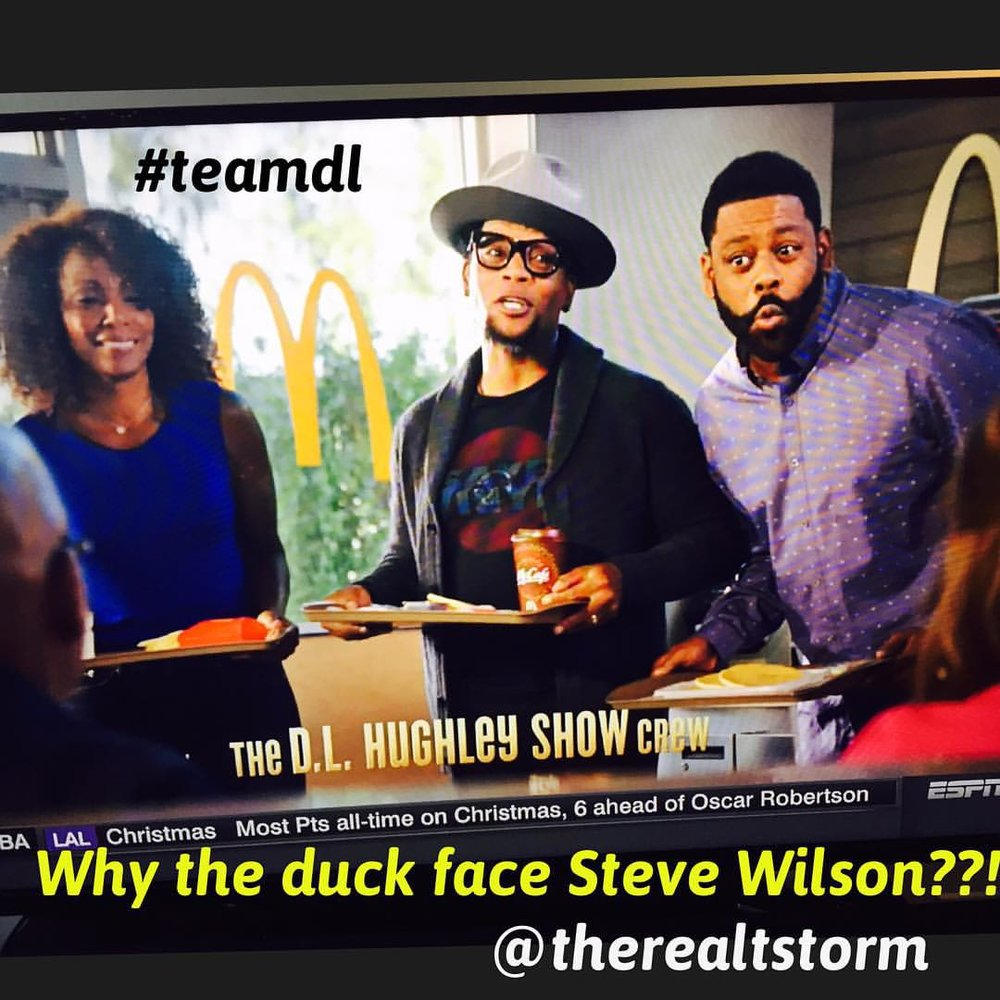 Great to see my fam @realdlhughley @iamjasminesanders and @istevewilson in this #mcdonalds commercial but… Why Steve look like he got caught farting in public?!! Lol