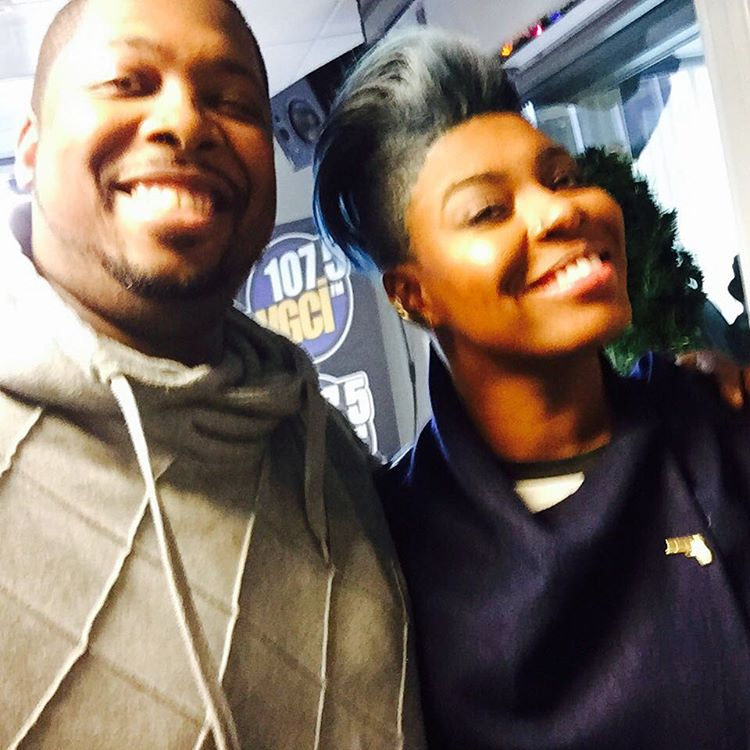 My #chicity niece hung out again. #empire #porchafromempire @tarhondajay @wgci