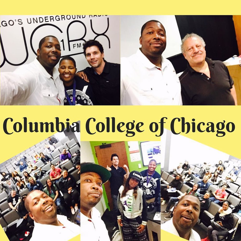 He a blast lecturing intro to radio class @columbiachi hopefully I inspired the next generation of broadcasters #4evaeva #eachoneteachone  (at Columbia College Chicago)