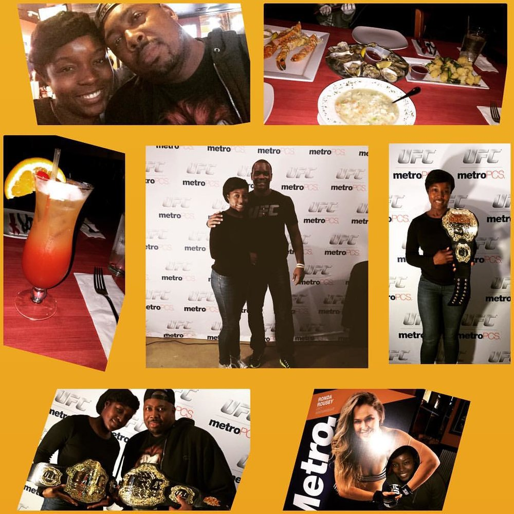 Had an absolutely fun pre-birthday weekend with my hubmeister aka best friend. We checked out Happy crab in the West loop and then headed out to watch a UFC fight at @bwrchicago. In the end the Battles took home the belt lol😀😀. #4evaeva date night