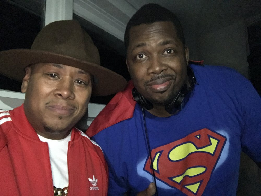 Sanntillian as Pharrell with the Blackman of steel on the turntables