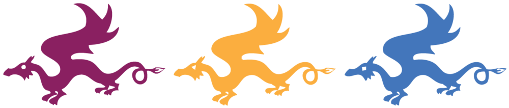 Three Dragons Academy logo with text.