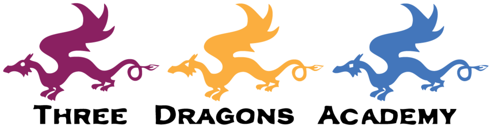 Three Dragons Academy color logo.