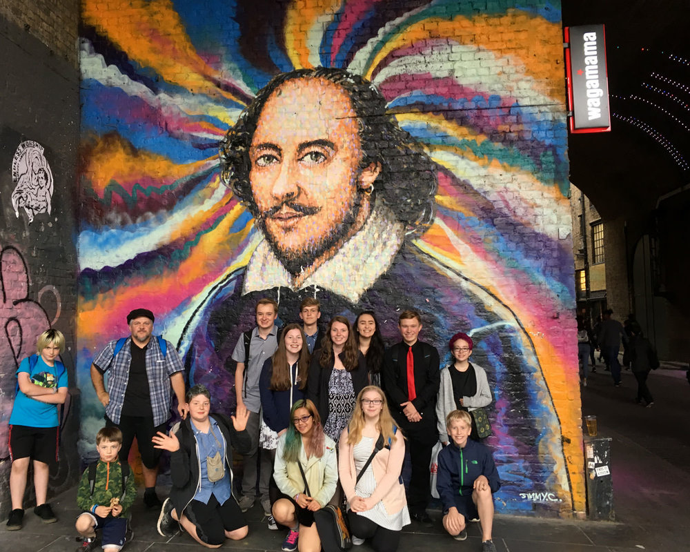 London Shakespeariance tour, June 2017