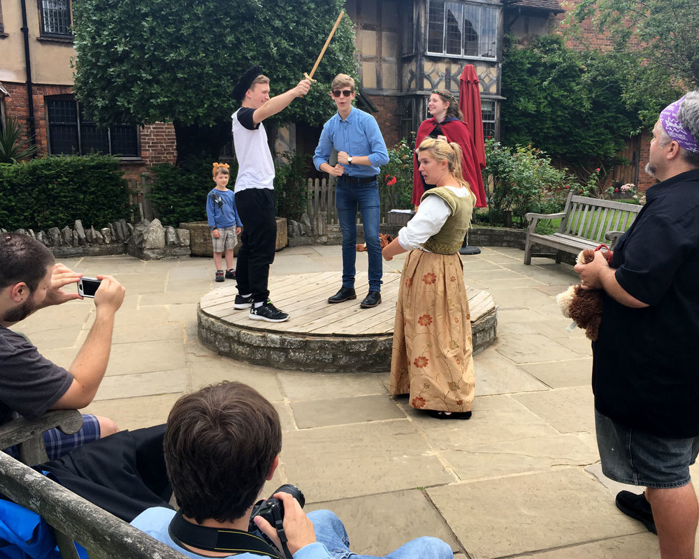 Performing Midsummer Night's Dream at Shakespeare's birthplace