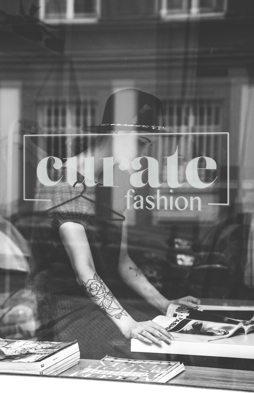 Curate Fashion - Logo design.