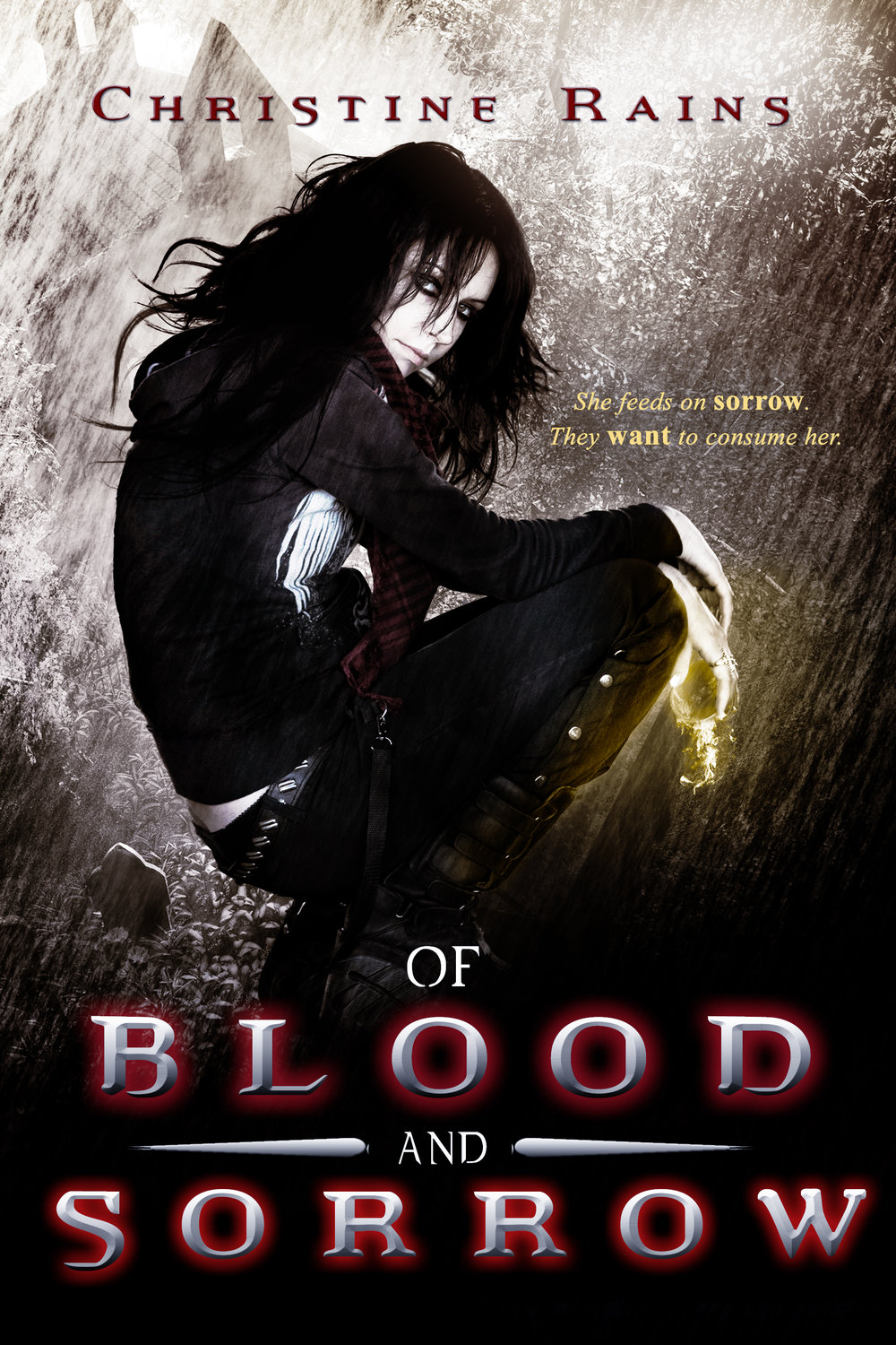 Of Blood and Sorrow by Author Christine Rains- Book Cover