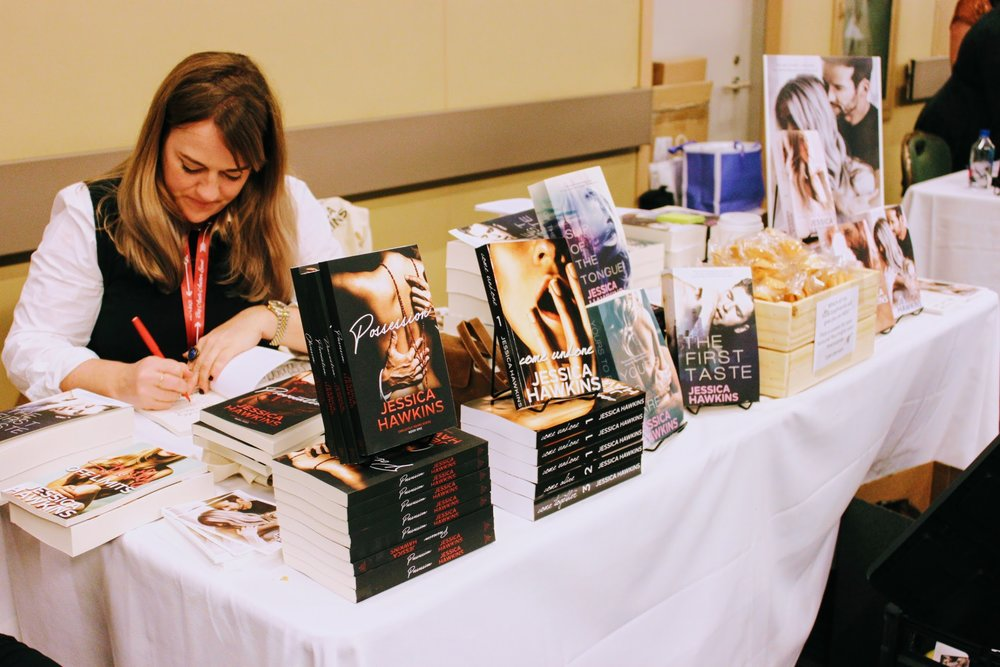 Author signing event with authorJessica Hawkins