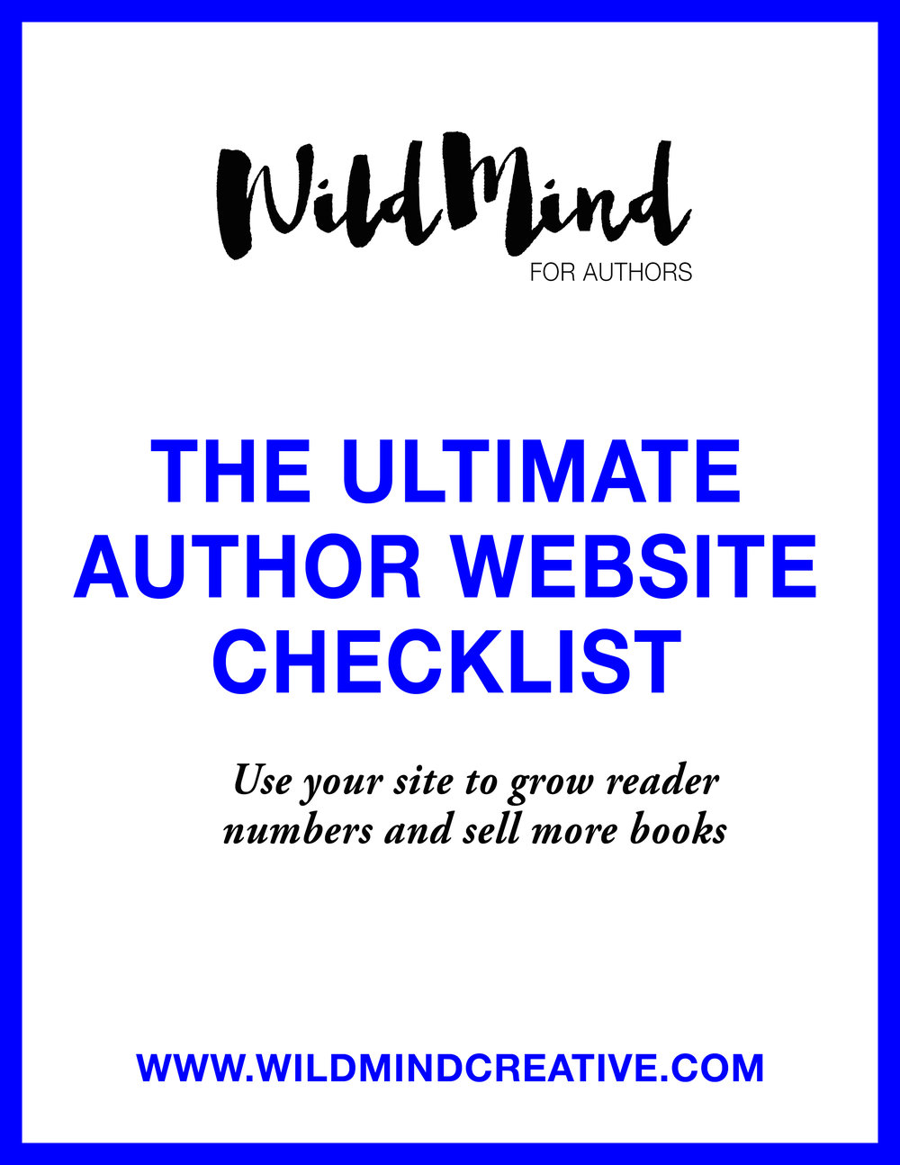 The Ultimate Author Website Checklist