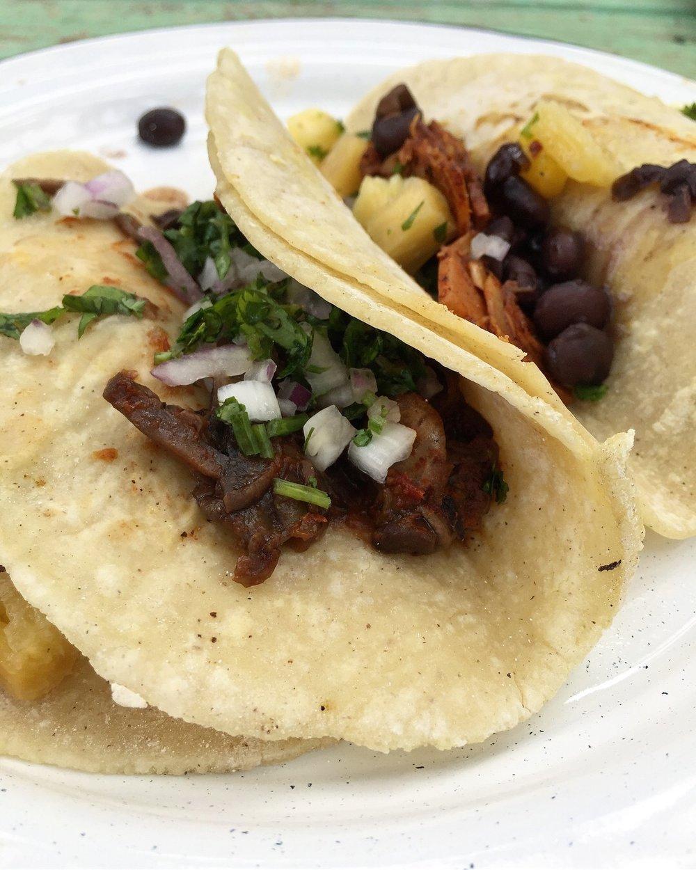Tacos at Veganda.