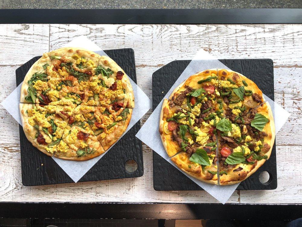 Virtuous Pie brunch pizzas