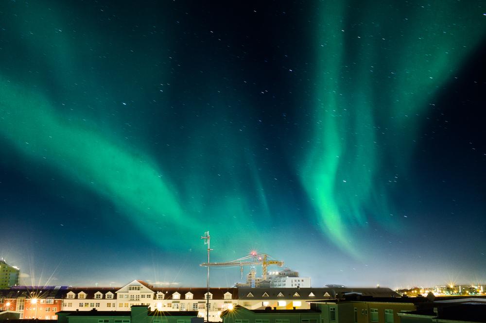 Aurora over Reykjavík