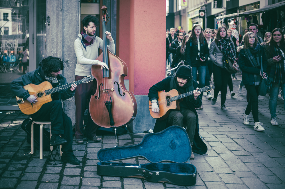 Busking in Ghent