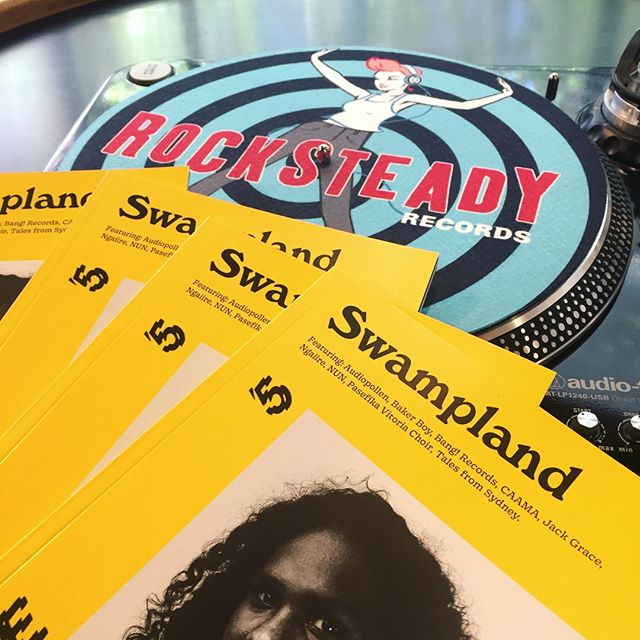 🔥Support the record stores that support local music (and magazines). Pat from @RocksteadyRecords in Melbourne's CBD has been a big supporter of Swampland since the beginning.. why not pop in and say g'day? 🔥