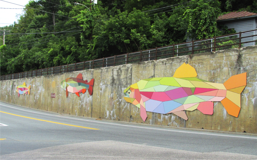 Bethel has just been awarded a $15,000 Animating Infrastructure grant to bring public art to town. Learn more about our new 200-foot mural, colorful banners and benches.