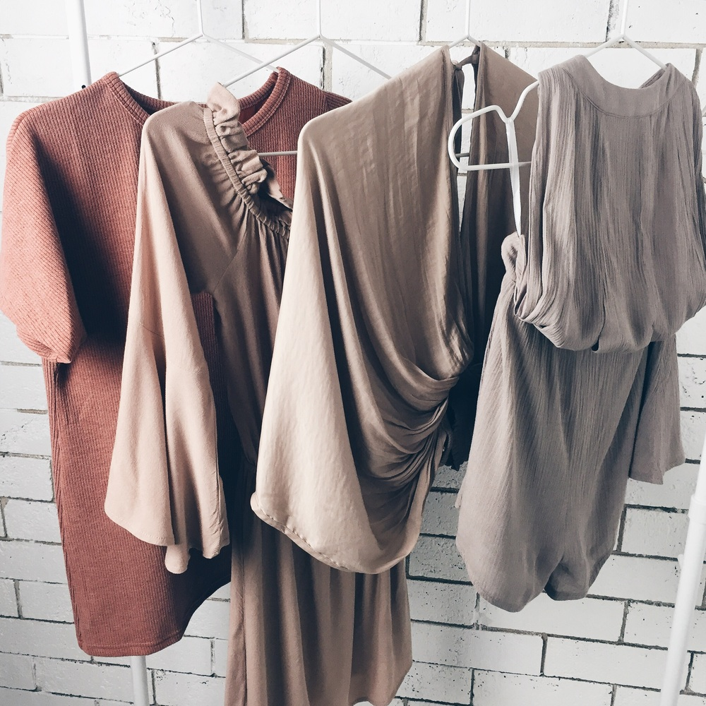 All pieces from Sabo Skirt (prices from left to right)  Split Ribbed Tee AU$42  Frill Shoulder Dress AU$58  Stella Top  Grazia Playsuit AU$68