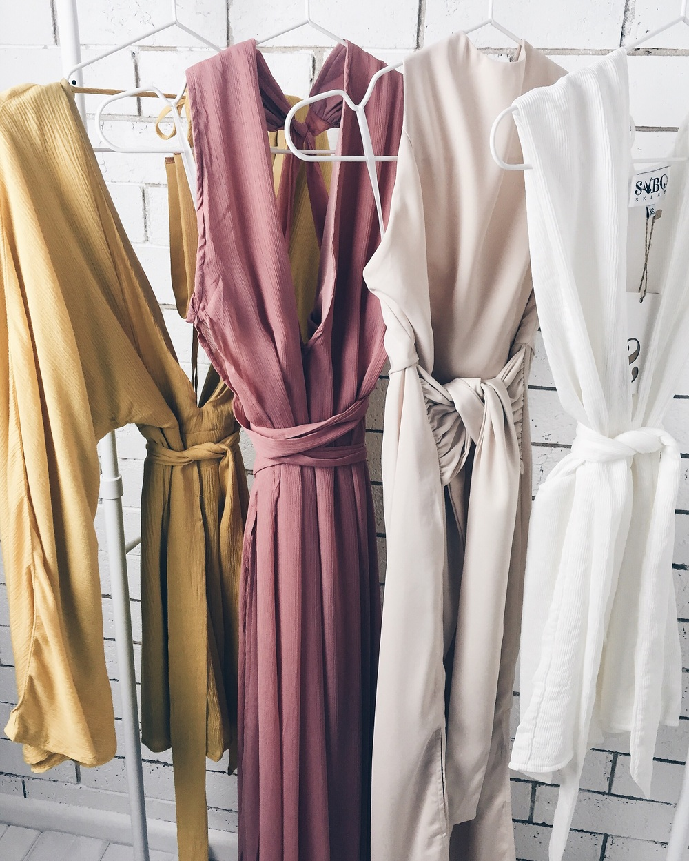 All pieces from Sabo Skirt (prices from left to right)  Anika Dress AU$68  Indie-Rose Dress AU$128  Sia Dress AU$78  Plunge Playsuit $128