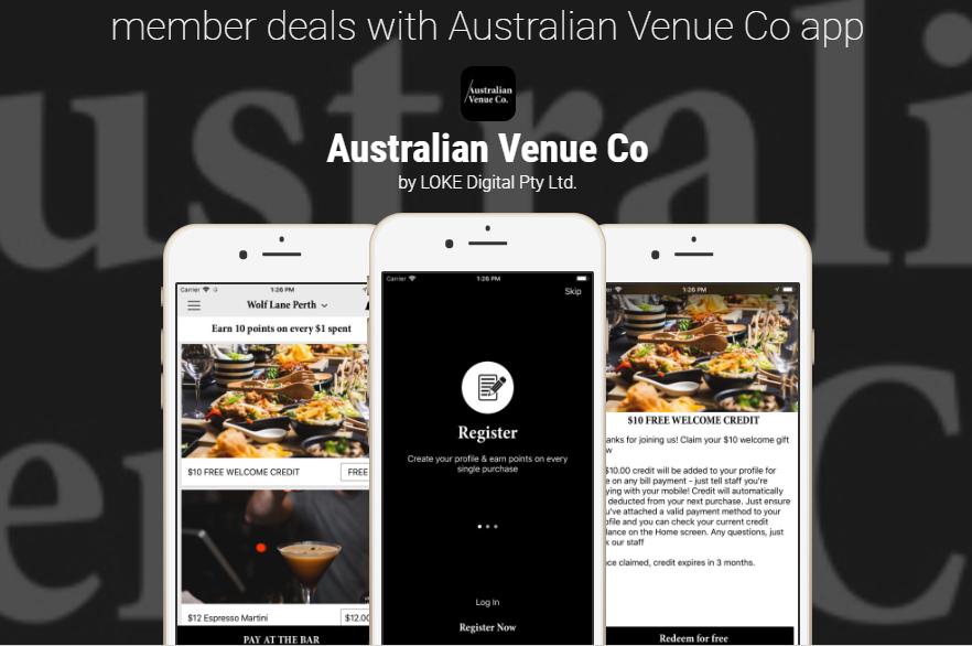 Australian Venue Co  launches their new loyalty app — Loyalty App