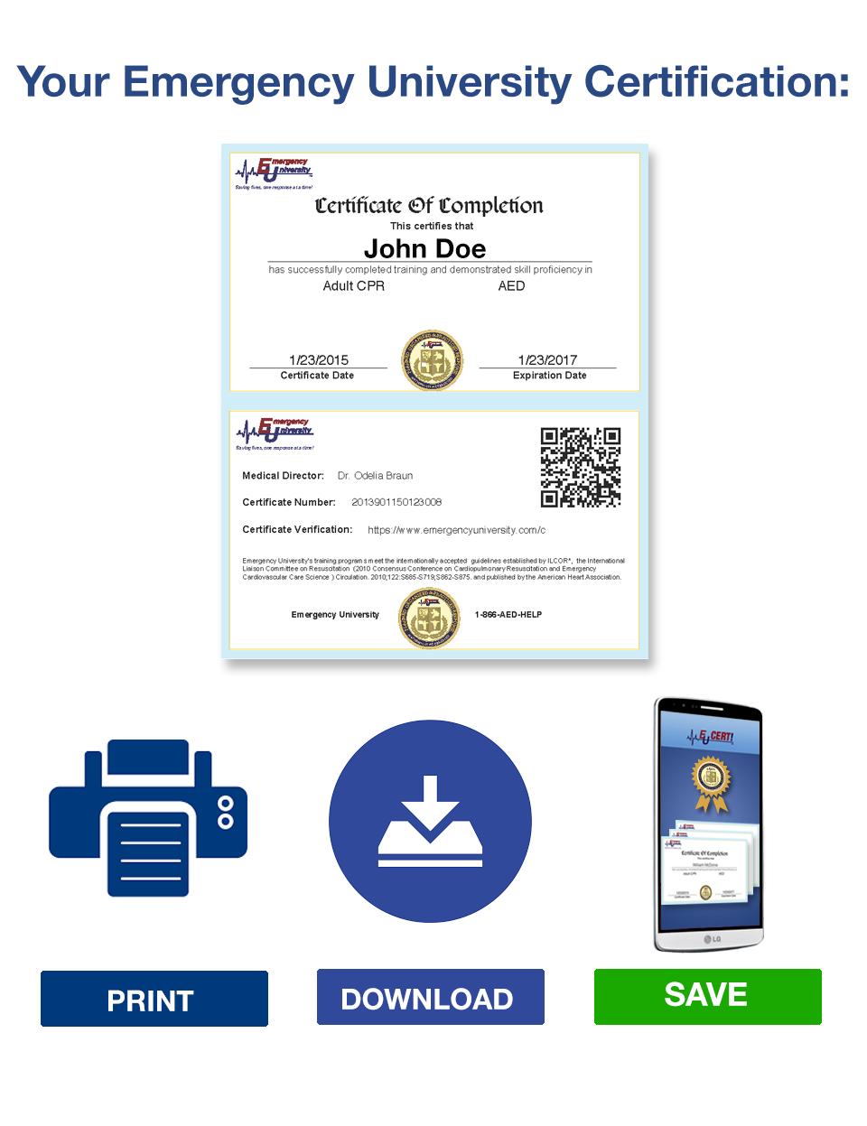 EU Certification Retrieval Options Page