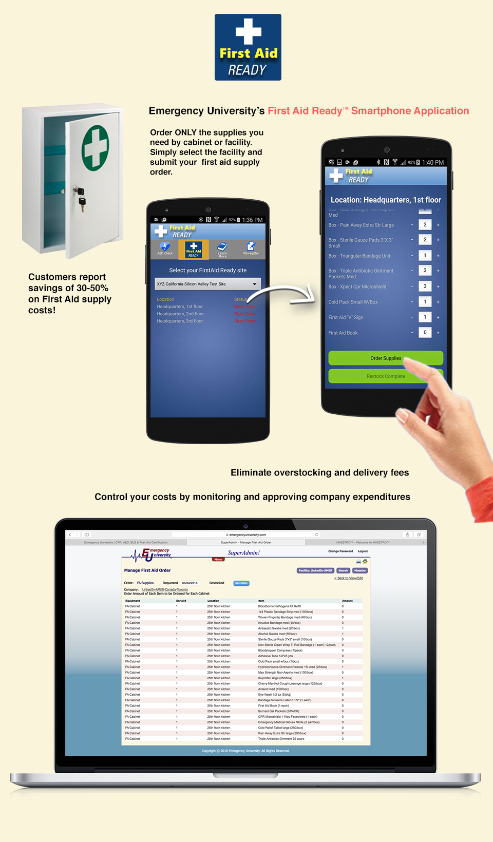 First Aid Ready Smartphone Application Page Layout Design