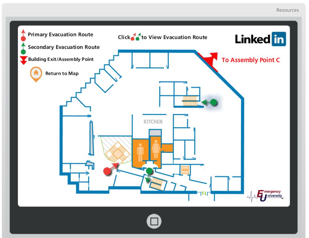 Interactive Evacuation Map Floor Page