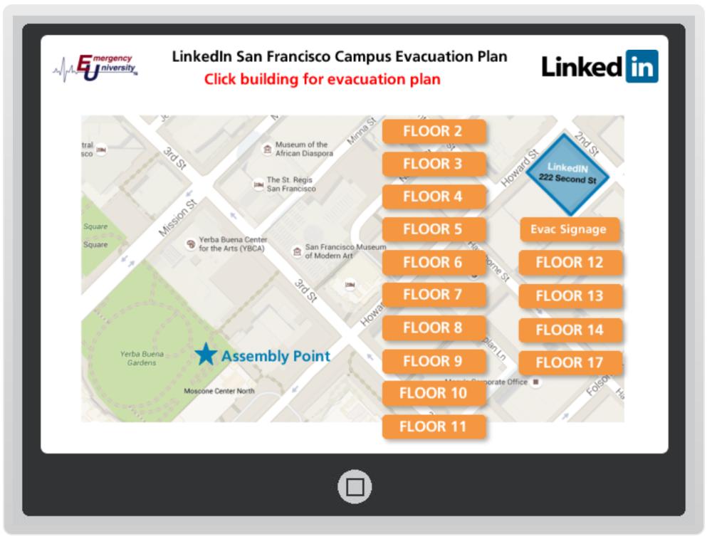 Campus Menu Evacuation Page