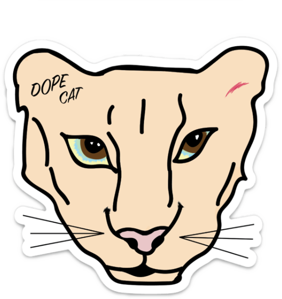 Dope Cat Puma Sticker