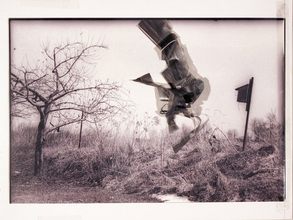 """Leaving the House Where We Grew Up        2017 graphite, transparent tape, laser print on matte photo paper 8 1/2"""" x 11 3/8"""""""