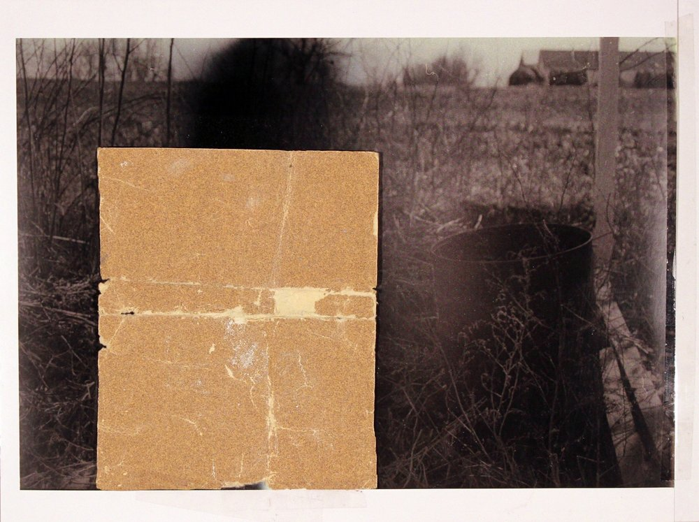 """Returning to Where We Came From         2017 sand paper, transparent tape, laser print on matte photo paper 8 1/2"""" x 11 3/8"""""""