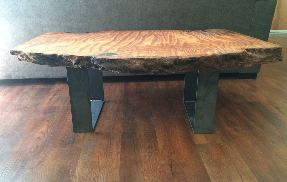 Redwood Coffee Table Side