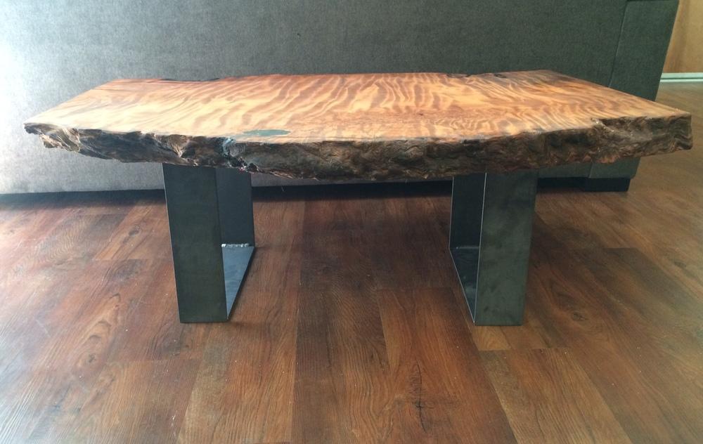 LWoodRedwood Burl Coffee Table - Redwood side table