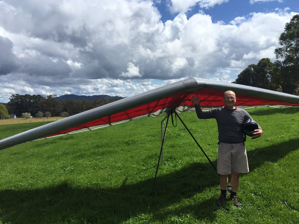 Franko - all round hanggliding legend and local pilot