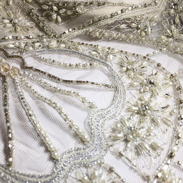 Handmade details on our @gwendolynne wedding gowns with beadwork designed exclusively for the label. This one is inspired by a Parisian Art Nouveau Door.  #Dress | #GwendolynneAudrey #Gown | @gwendolynne  #Photography | @gwendolynneburkin  #WeddingDress #MadeinMelbourne #vintagewedding #Beading #MelbourneWedding #Gwendolynne #gwendolynnedetail #Handmade #handsewn #byhand #details #couturedetails #artnouveau