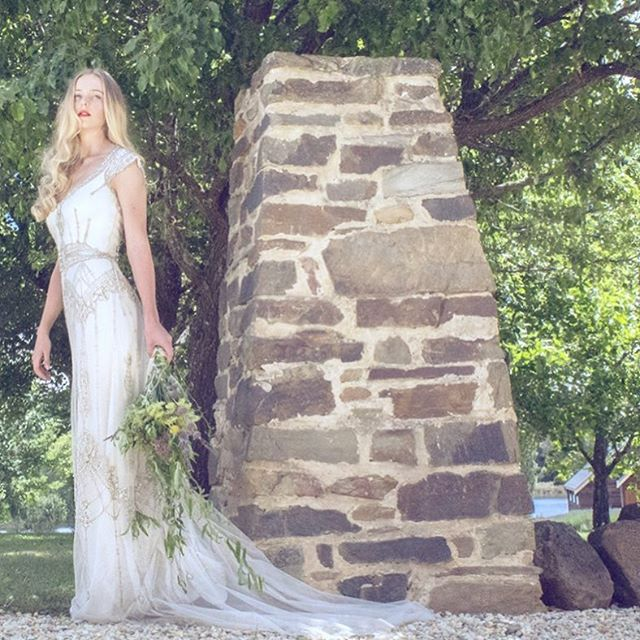 @gwendolynne styled shoot Photographed at Daylesford's magnificent @sault_daylesford with this beauty beside the gorgeous stone pillars of this enchanting location  #WeddingVenue | @sault_daylesford  #Gowns | @gwendolynne  #HairandMakeUp | @vivianashworth_  #Model | @rosemcevoy of @brazenmodels  #Photography #CreativeDirector & #Styling | @GwendolynneBurkin #Dress #Style | #GwendolynneSabine  #Styledshoot #weddinginspo #weddingphotography #saultdaylesford #countrywedding  #daylesfordwedding #gwendolynne #vintagewedding #bridaleditorial #weddingdress #gwendolynneatsault