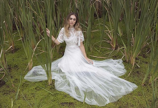 Our new #GwendolynneWhite collection photographed in the reeds & moss at @sault_daylesford in Autumn  #weddingvenue | @sault_daylesford #photography #Styling #creativedirection | @gwendolynneburkin #hair & #makeup | @vanessabarney for @brides_by_vanessa_jane [Poet] #model | @poetjanine of @brazenmodels #hair  #gowns | @gwendolynne  #Dress #Style | #GwendolynneSparrow #Assistants | @madeline.kannas @ohheygrace  #Styleshoot #autumn #bride #autumnwedding #vintagewedding #weddingshoot #gwendolynne  #vintagebride #weddingdress #autumnleaves #moss #reeds #lake #gwendolynneatsault #FrenchLace