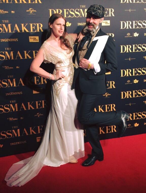 Gwendolynne Burkin and Richard Nylon The Dressmaker Opening .jpg