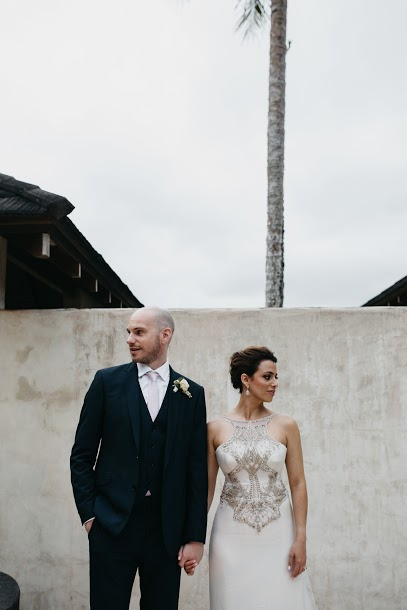 Tash wearing the Kali gown by Gwendolynne - image: hello@sbcreativeco.com.au