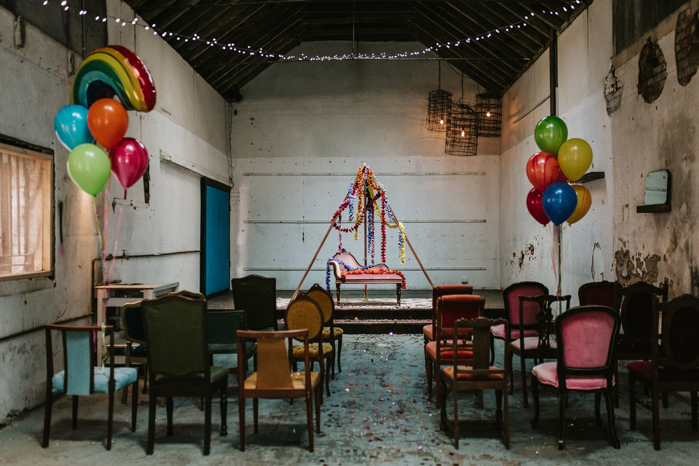Colourful Industrial Wedding