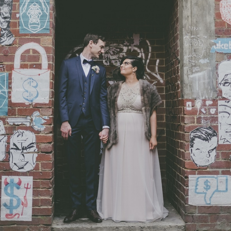 Kathy wearing the Deco gown by Gwendolynne - Image: Love is Sweet Photography