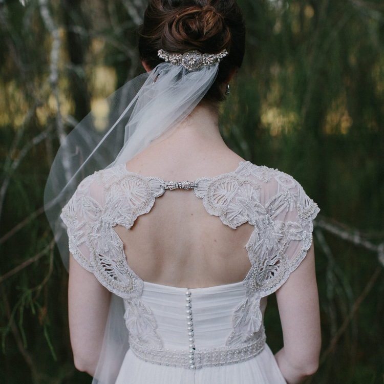Ingrid wearing the Ophelia gown – image: www.johnbenavente.com.au