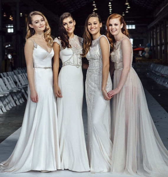 Gwendolynne Nastasha, Audrey, Jasmine 3 and Asha wedding gowns