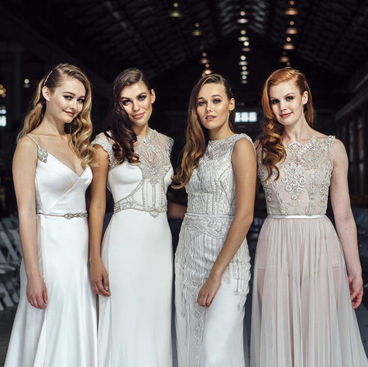 Gwendolynne Natasha, Audrey, Jasmine 3 and Asha wedding gowns