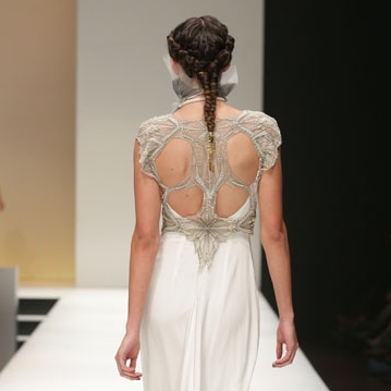 Gwendolynne Arrow Vest and North Wedding Dress