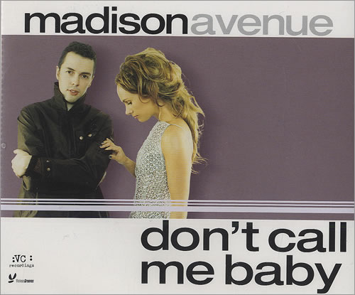 """CD cover clothing No 1. Hit """"Don't Call me Baby"""" No 1 hit in 20 countries including UK and No 1 Dance hit in USA"""