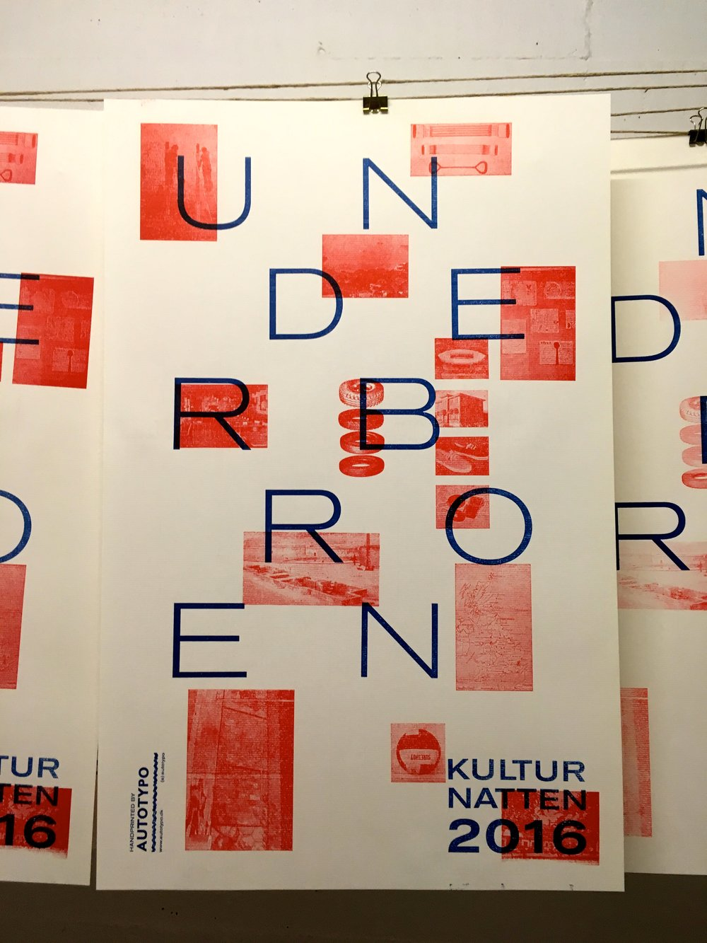 AutoTypo   Letterpress poster (limited edition)  Designed and made by Kaspar Sivertsen
